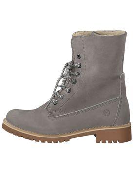 Tamaris 1-26443-23 254 Damen Schnürstiefelette Lace-Up Boots Light Grey Grau mit Warmlining und Primaloft – Bild 3