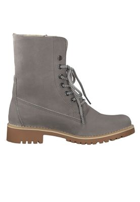 Tamaris 1-26443-23 254 Damen Schnürstiefelette Lace-Up Boots Light Grey Grau mit Warmlining und Primaloft – Bild 5
