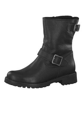 Tamaris 1-26902-23 001 Damen Stiefelette Biker Boots Black Schwarz mit Warmlining – Bild 1