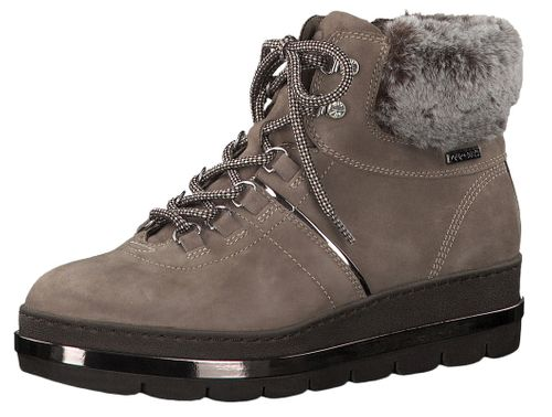 Tamaris 1-26443-21 341 Womens Taupe Brown Lace-Up Boot Lace-Up Boots with Warmlining and Primaloft – Bild 1