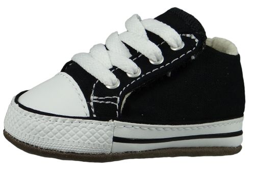 Converse Baby Chucks Schwarz Chuck Taylor All Star Cribster Canvas Color - Mid Black Natural Ivory White – Bild 1