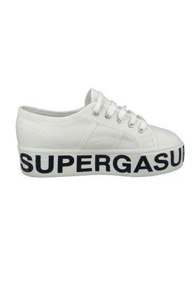 Superga Schuhe Sneaker low 2790 COTU Plateau Outsole White Weiss – Bild 4