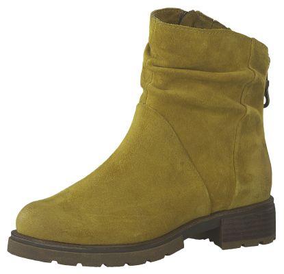 Marco Tozzi Damen Leder Stiefelette Ankle Boot Mustard Gelb 2-2-25866-33 606 – Bild 1