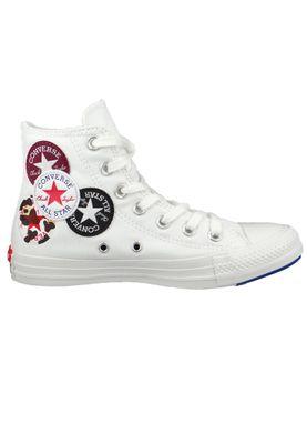 Converse Chuck Weiß 166734C Chuck Taylor All Star Multi Logo HI White Rush Blue – Bild 5