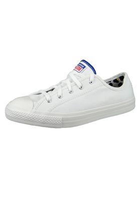 Converse Chucks 566772C Weiß Chuck Taylor All Star Dainty Double License Plate - OX - White – Bild 1