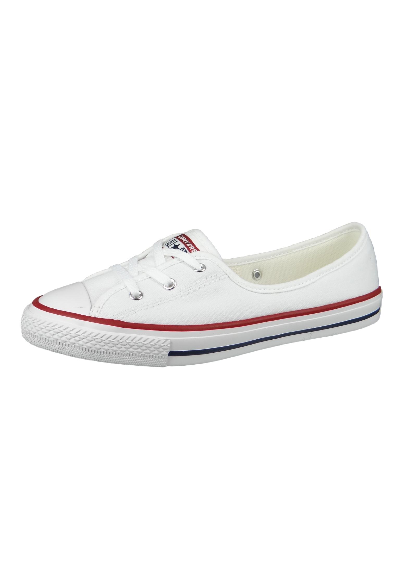 Converse Chucks 566774C Weiß Chuck Taylor All Star Ballet Lace Slip White Garnet