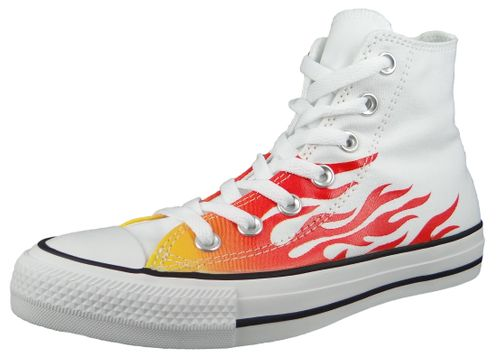 Converse Chuck Weiß 166257C Chuck Taylor All Star - WHITE/ENAMEL RED/FRESH YELLOW – Bild 1