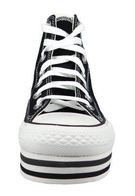 Converse Chucks Plateau Schwarz 564486C Chuck Taylor All Star Platform Layer HI - Black White Thunder – Bild 3