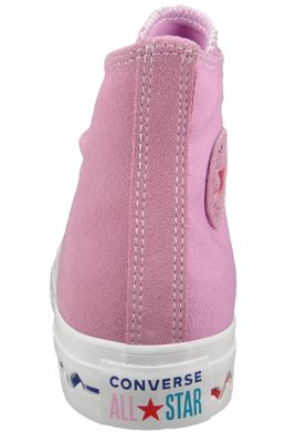 Converse Chucks Pink 567166C Chuck Taylor All Star Seasonal HI - Peony Pink University Red – Bild 4