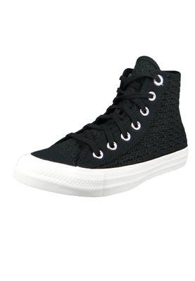 Converse Chucks Schwarz 567655C Chuck Taylor All Star HI - Black White – Bild 1
