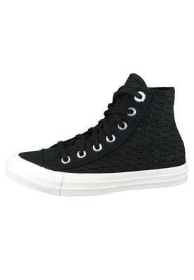 Converse Chucks Schwarz 567655C Chuck Taylor All Star HI - Black White – Bild 2