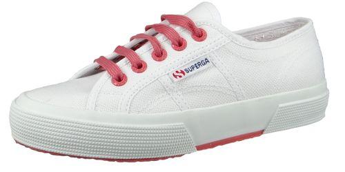 Superga Damen Schuhe Sneaker COTCONTRASTU 2750 Weiß White Pink Extase – Bild 1