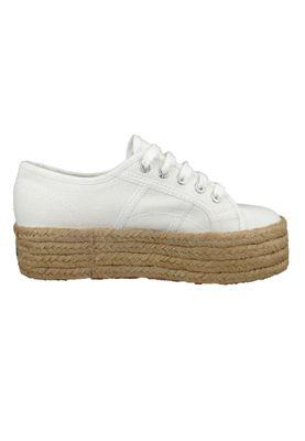 Superga Schuhe Damen Sneaker 2790 COTU Plateau Espadrille Weiß White – Bild 2