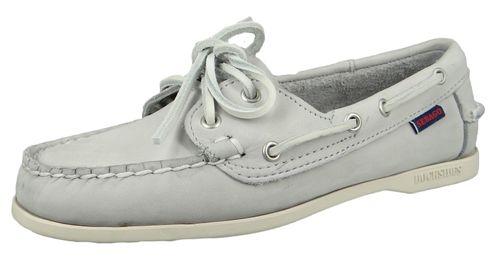 Sebago 71111IW 918 Jacqueline Nubuck Docksides Damen Bootsschuhe Grau LT Grey – Bild 1