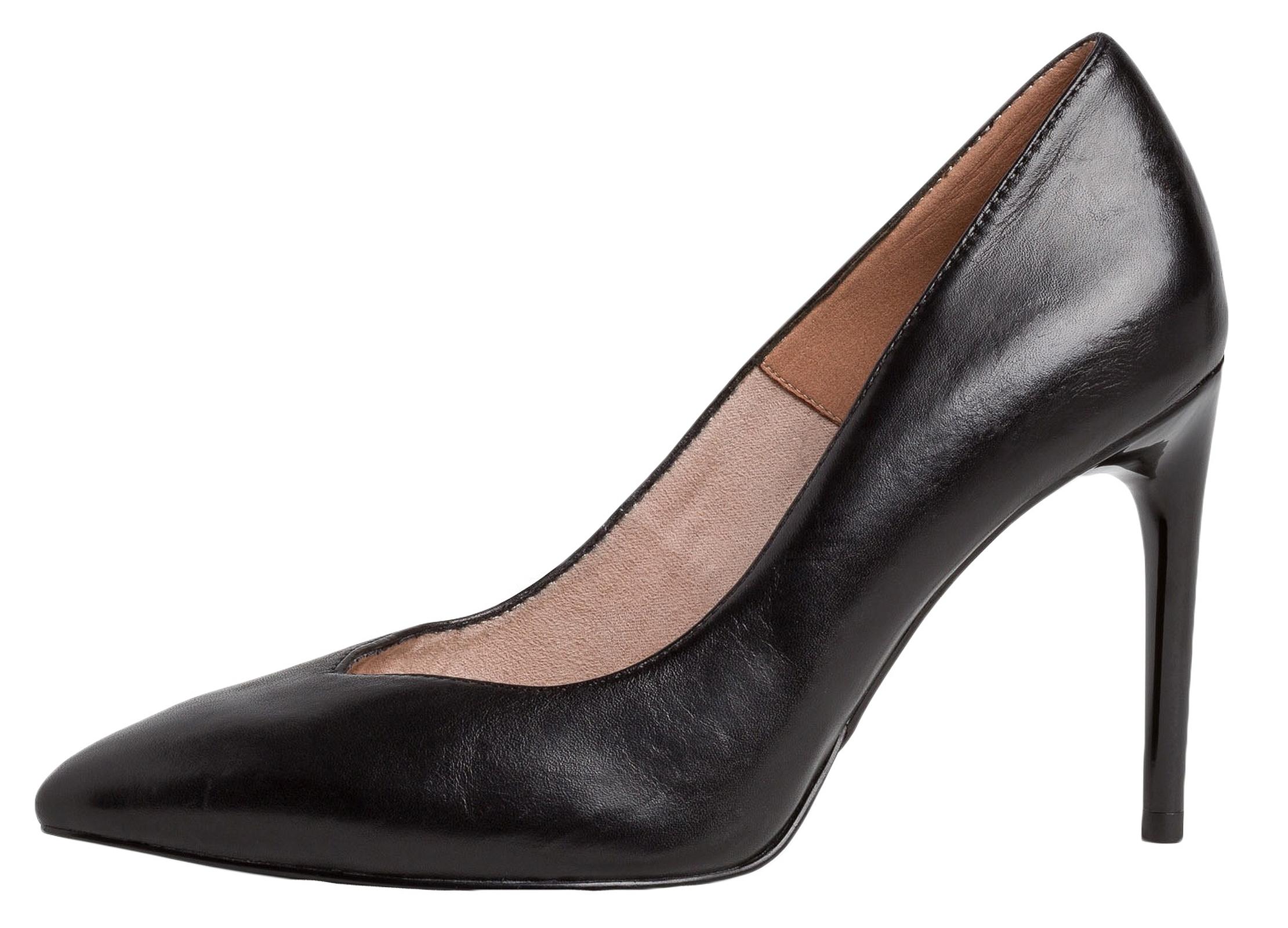 Tamaris Pumps, Stilettoabsatz, Leder, für Damen 003 black 38