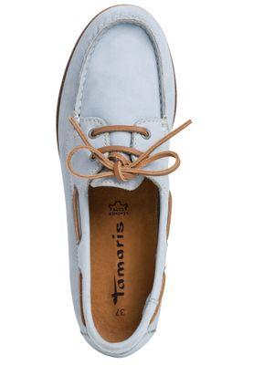 Tamaris 1-23616-22 727 Womens Sky Nubuc Light Blue Leather Boat Shoe – Bild 4