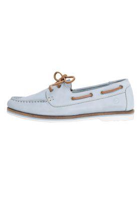 Tamaris 1-23616-22 727 Womens Sky Nubuc Light Blue Leather Boat Shoe – Bild 6