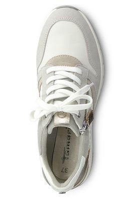 Tamaris 1-23702-24 197 Damen White Comb Weiss Grau Wedge Sneaker – Bild 2