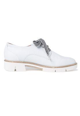 Tamaris 1-23703-34 157 Damen White Leather Str Weiß Leder Halbschuh mit TOUCH-IT Sohle – Bild 3