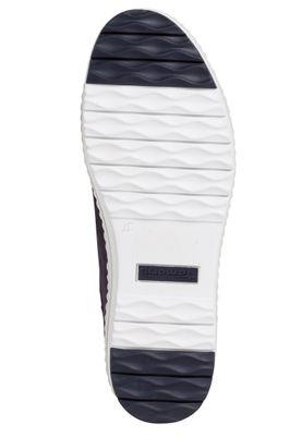 Tamaris 1-23711-24 877 Damen Navy Pearl Blau Leder sportlicher Halbschuh Sneaker – Bild 4