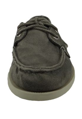 Sperry STS21704 A/O 2-Eye Garment Wash Herren Leder Bootsschuhe Grey Grau – Bild 5