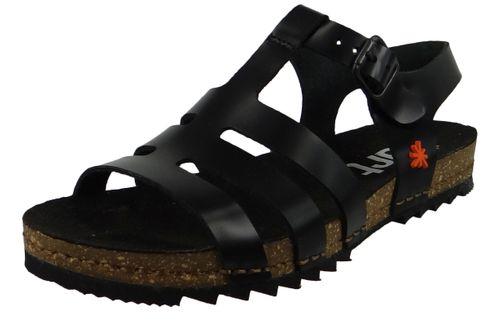 Art 1256 Creta Damen Leder Sandale Black Schwarz – Bild 1