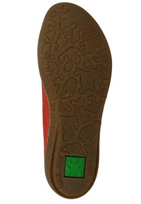 El Naturalista N5300 Coral Leather Dolce Damen Leder Ballerina Coral Orange – Bild 5