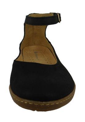 El Naturalista N5226 Coral Leather Dolce Damen Leder Fesselriemen Ballerina Black Schwarz – Bild 5