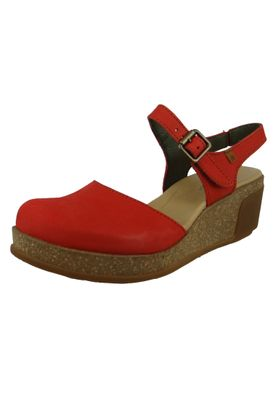 El Naturalista N5001 Leaves Damen Leder Keil-Sandalette Leather Pleasant Coral Rot – Bild 1