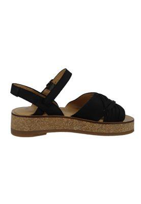 El Naturalista N5590 Tülbend Damen Leder Sandale Leather Soft Grain Black Schwarz – Bild 2
