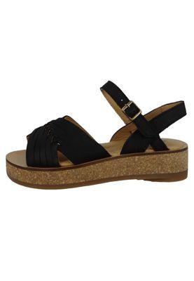 El Naturalista N5590 Tülbend Damen Leder Sandale Leather Soft Grain Black Schwarz – Bild 5