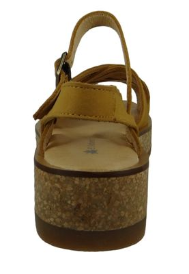 El Naturalista N5590 Tülbend Damen Leder Sandale Leather Soft Grain Curry Gelb – Bild 2