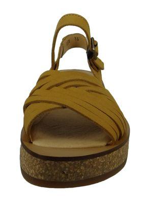 El Naturalista N5590 Tülbend Damen Leder Sandale Leather Soft Grain Curry Gelb – Bild 4