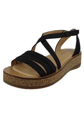 El Naturalista N5592 Tülbend Damen Leder Sandale Leather Soft Grain Black Schwarz – Bild 1