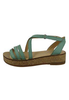El Naturalista N5592 Tülbend Damen Leder Sandale Leather Soft Grain Mint Grün – Bild 2