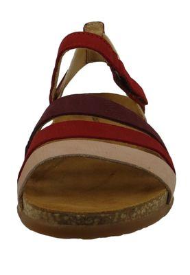 El Naturalista N5244 Zumaia Damen Leder Sandale Tibet Mixed Rot – Bild 2