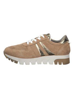 Tamaris 1-23749-24 313 Damen Camel/Lt. Gold Braun Leder Sneaker – Bild 6