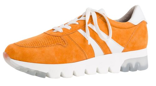 Tamaris 1-23749-24 603 Damen Orange Suede Leder Sneaker – Bild 1