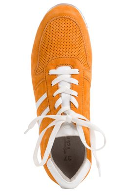 Tamaris 1-23749-24 603 Damen Orange Suede Leder Sneaker – Bild 4