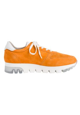 Tamaris 1-23749-24 603 Damen Orange Suede Leder Sneaker – Bild 5