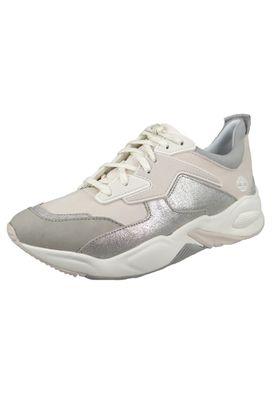 Timberland CA2AQ3 Delphiville Damen Sneaker Natural Silver – Bild 1