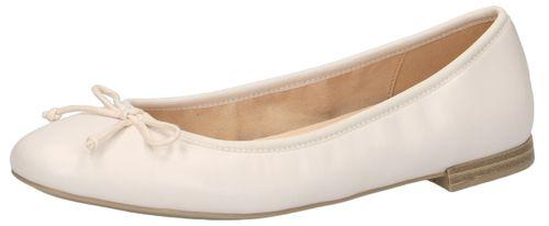 Caprice 9-22100-24 040 Damen Ballerina Leder White Weiss – Bild 1
