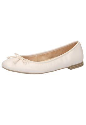 Caprice 9-22100-24 040 Damen Ballerina Leder White Weiss – Bild 2
