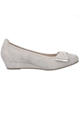 Caprice 9-22309-24 201 Damen Leder Keil-Pumps Grey Suede Grau – Bild 3