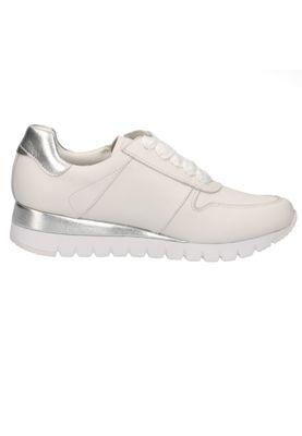 Caprice 9-23701-24 191 Damen Leder Sneaker Low Top White Silver Weiß – Bild 3