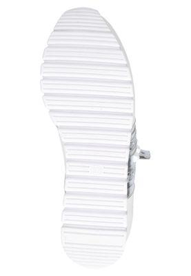 Caprice 9-23701-24 191 Damen Leder Sneaker Low Top White Silver Weiß – Bild 5