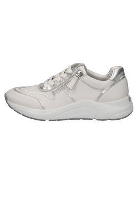 Caprice 9-23704-24 191 Damen Leder Sneaker Low Top White Silver Weiß – Bild 4
