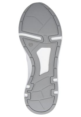 Caprice 9-23704-24 191 Damen Leder Sneaker Low Top White Silver Weiß – Bild 5