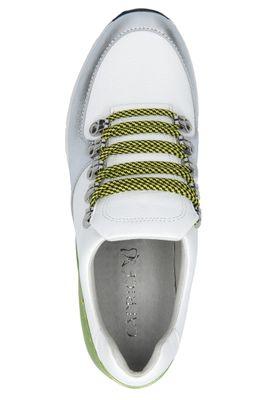 Caprice 9-23705-24 170 Damen Leder Sneaker Low Top White Lime Weiß – Bild 6