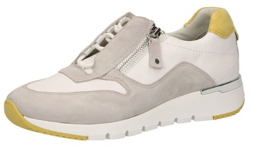 Caprice 9-23706-24 121 Damen Leder Sneaker Low Top White Grey Weiß – Bild 1
